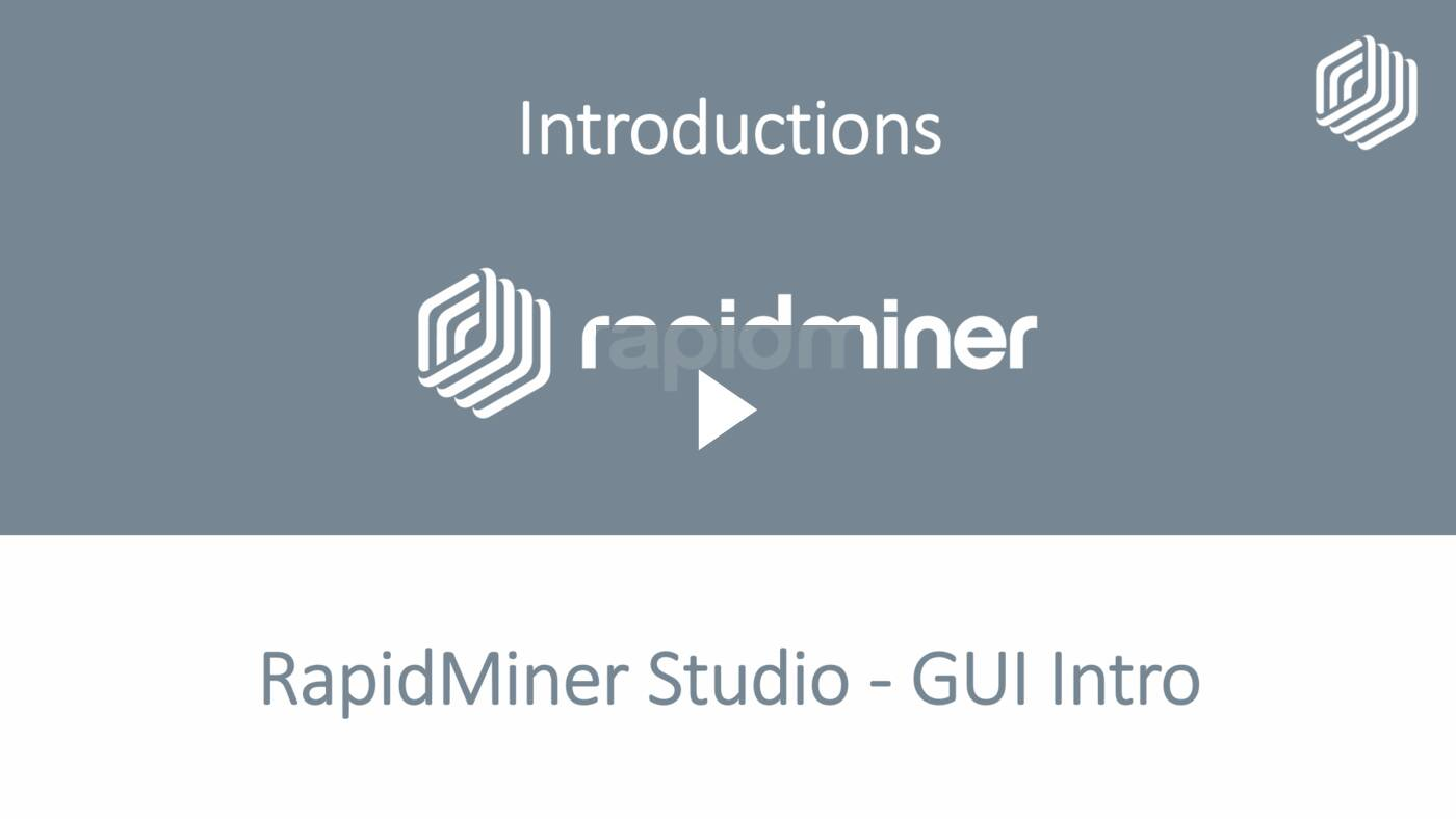 RapidMiner Studio - GUI Intro