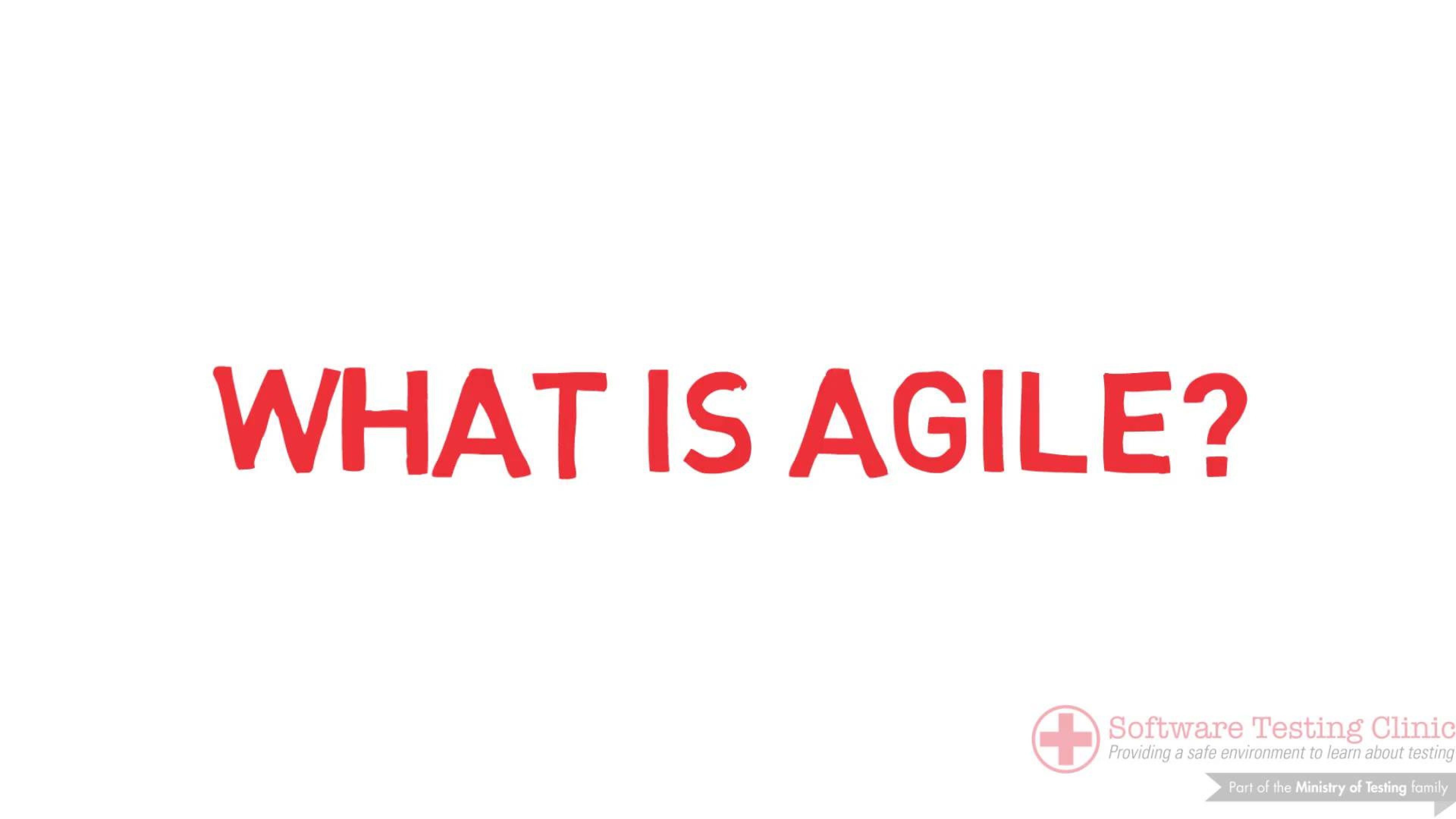 99 Second Introduction to Agile