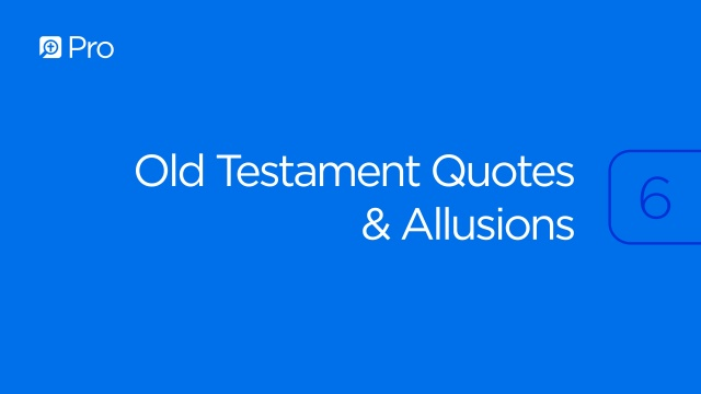 Old Testament Quotes & Allusions