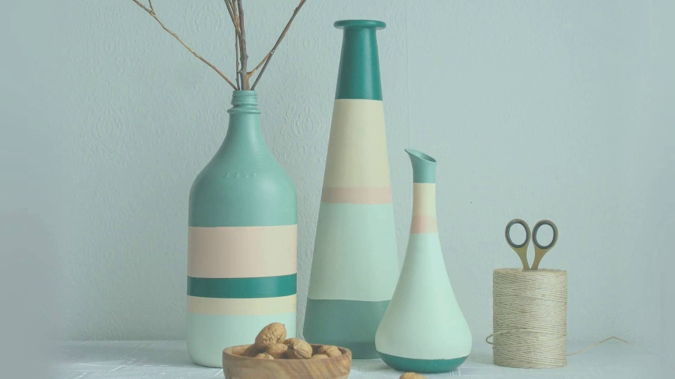 Habitat TV Video: DIY striped vases