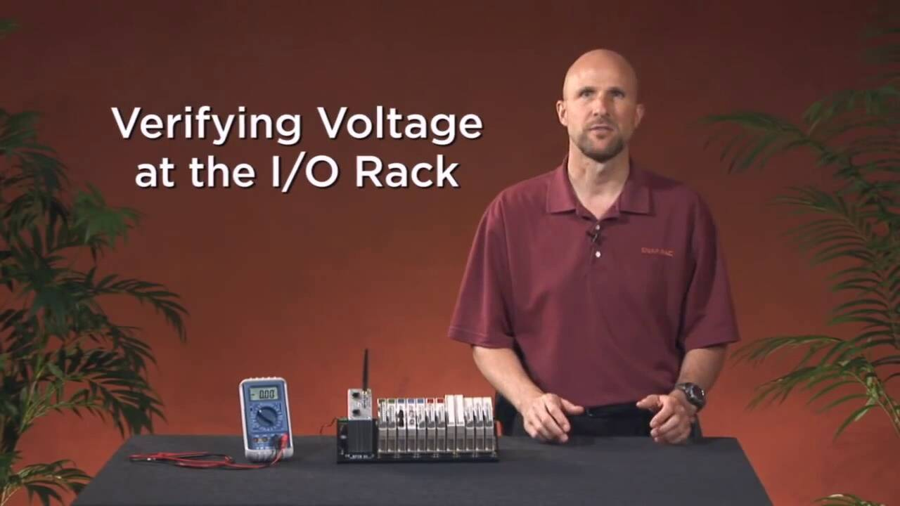 OptoMinute - Verifying Voltage at the I-O Rack
