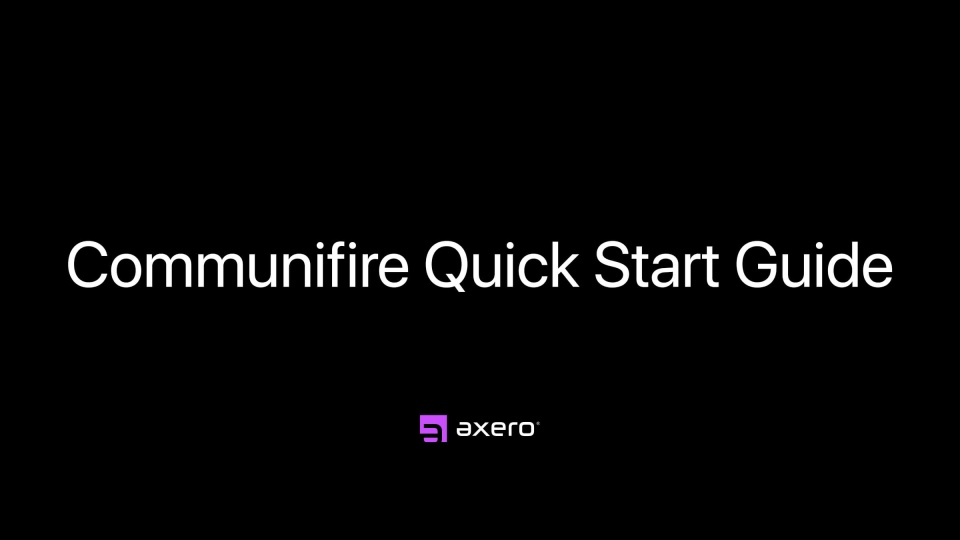 Communifire Quick Start Guide