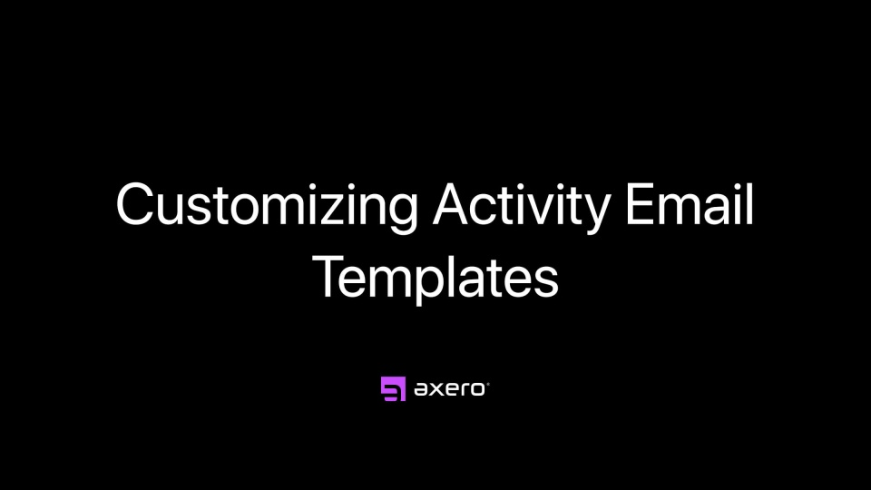 Customizing Activity Email Templates