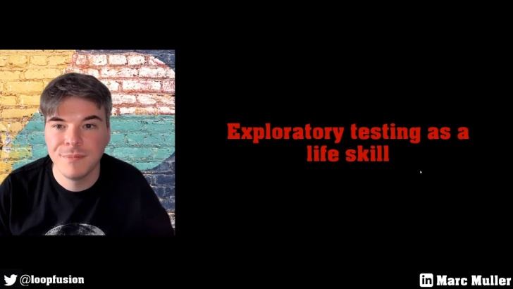 99 Second Talk - Marc Muller - Exploratory Testing as a Life Skill