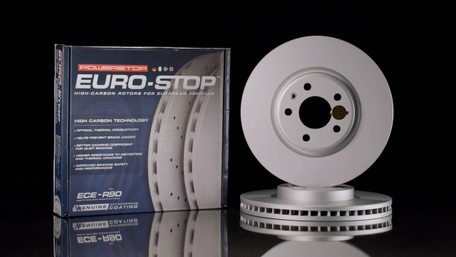 Power Stop ESK6236 Front Euro-Stop Brake Kit Mercedes