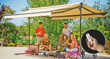 Sunsetter Oasis Freestanding Awning Retractable Deck And Patio Awning