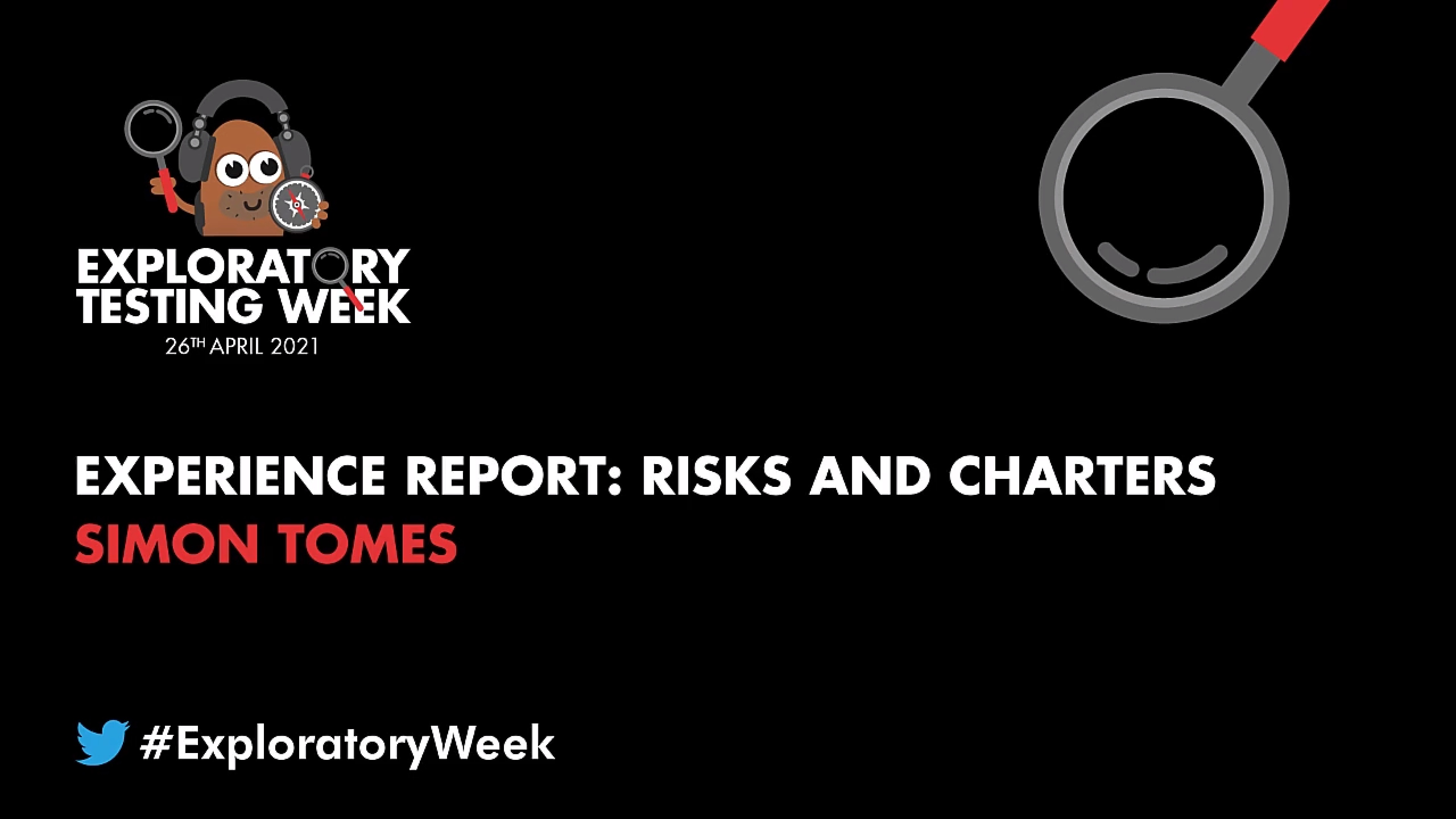 Experience Report: Risks and Charters with Simon Tomes
