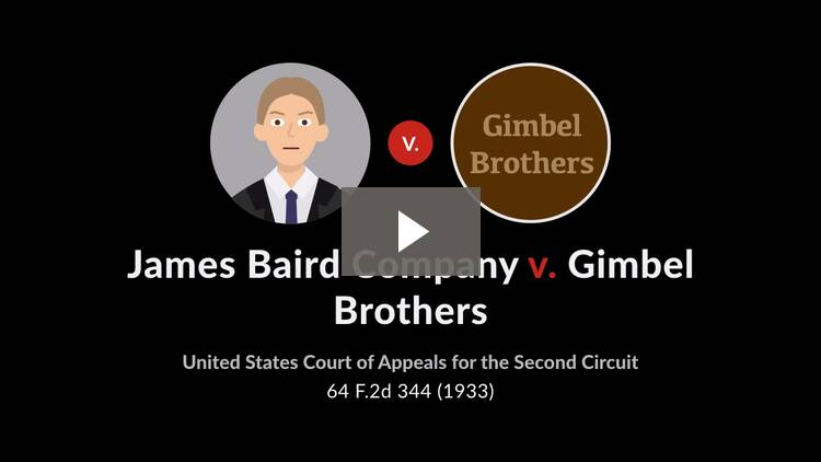 James Baird Co. v. Gimbel Bros., Inc.