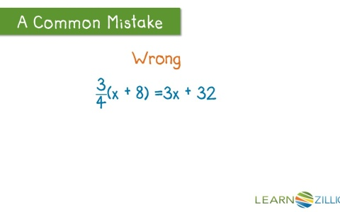 Simplify An Expression With A Fraction Using The Distributive