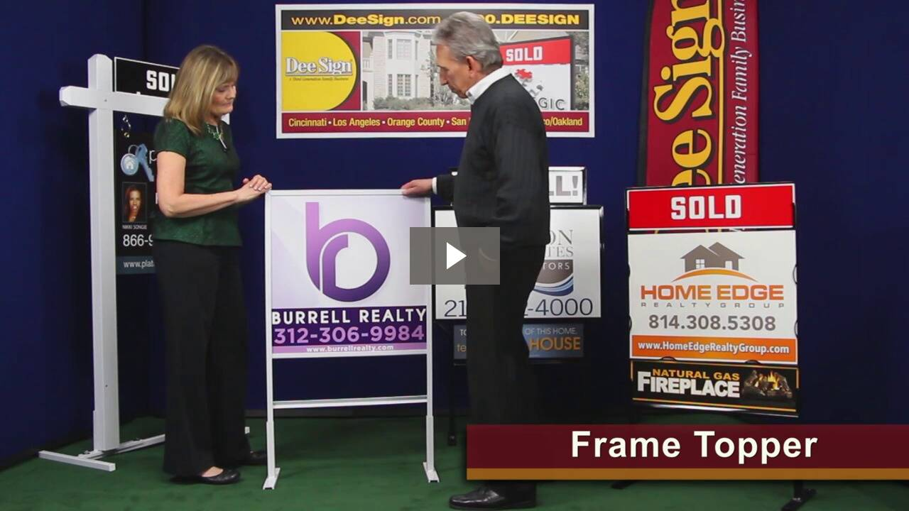 Real Estate Sign Frame Topper