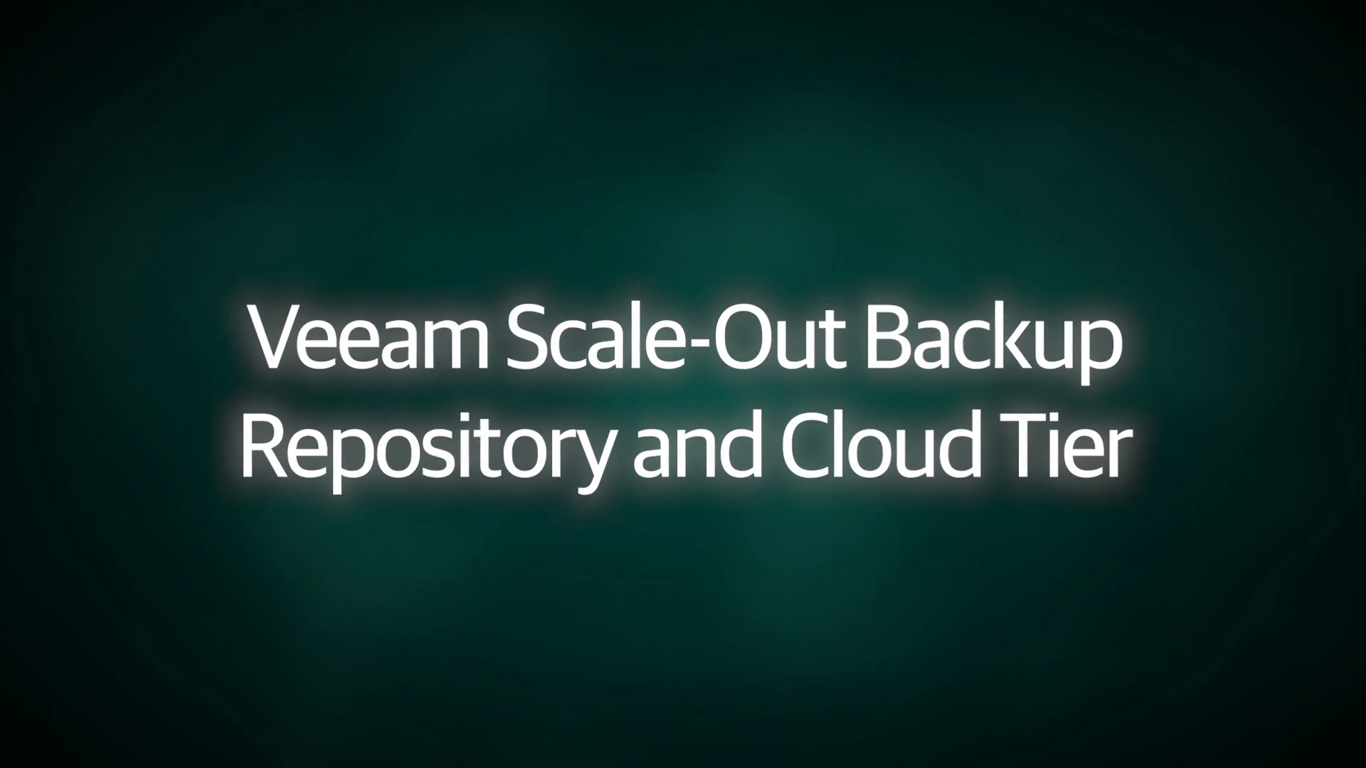 Veeam Scale-Out Backup Repository and Cloud Tier