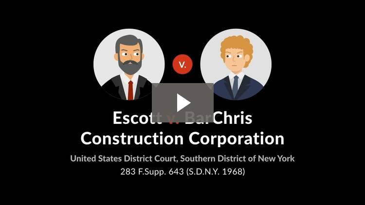 Escott v. BarChris Construction Corp.