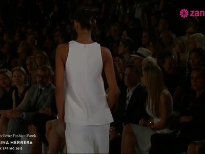 Desfile da colecção de Primavera Verão 2015 de Carolina Herrera na Fashion Week NYC