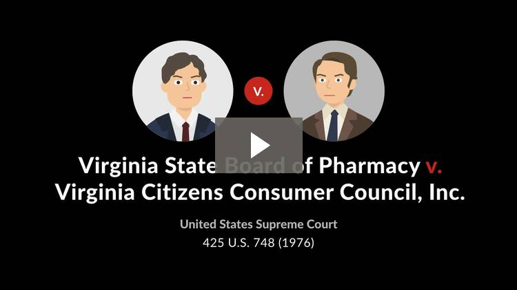 Virginia State Board of Pharmacy v. Virginia Citizens Consumer Council, Inc.