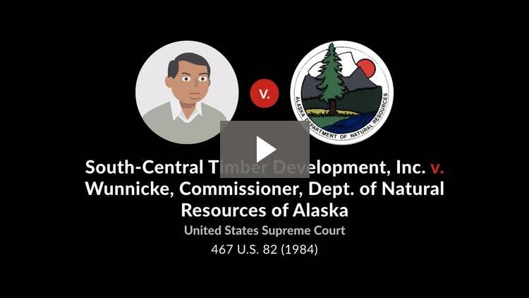 South-Central Timber Development, Inc. v. Wunnicke, Commissioner, Dept. of Natural Resources of Alaska