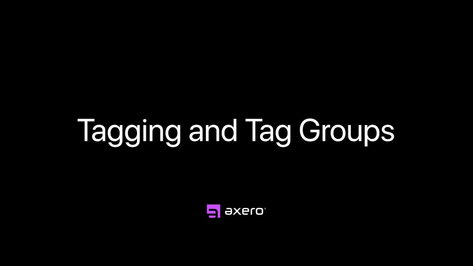 Tagging and Tag Groups