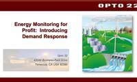Webinar: Energy Monitoring for Profit- Introducing Demand Response