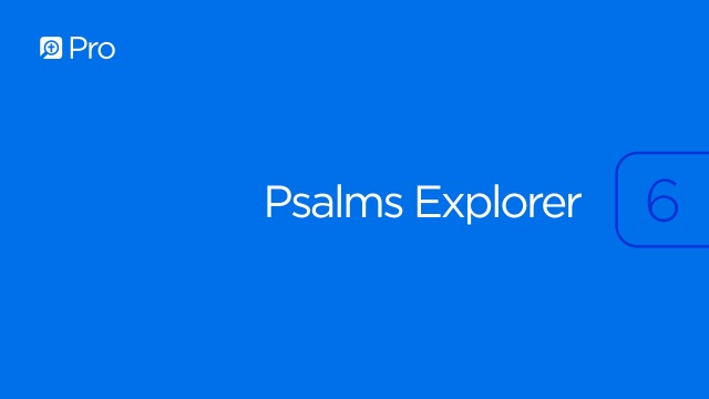 Psalms Explorer