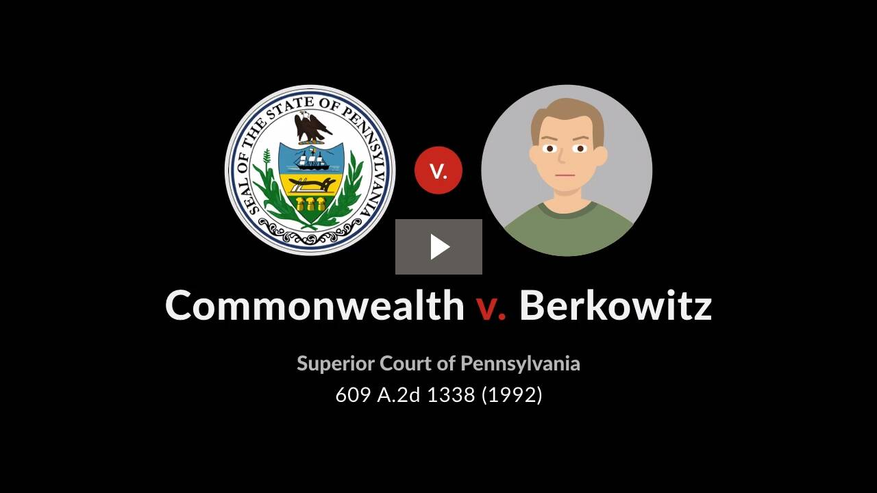 Commonwealth v. Berkowitz