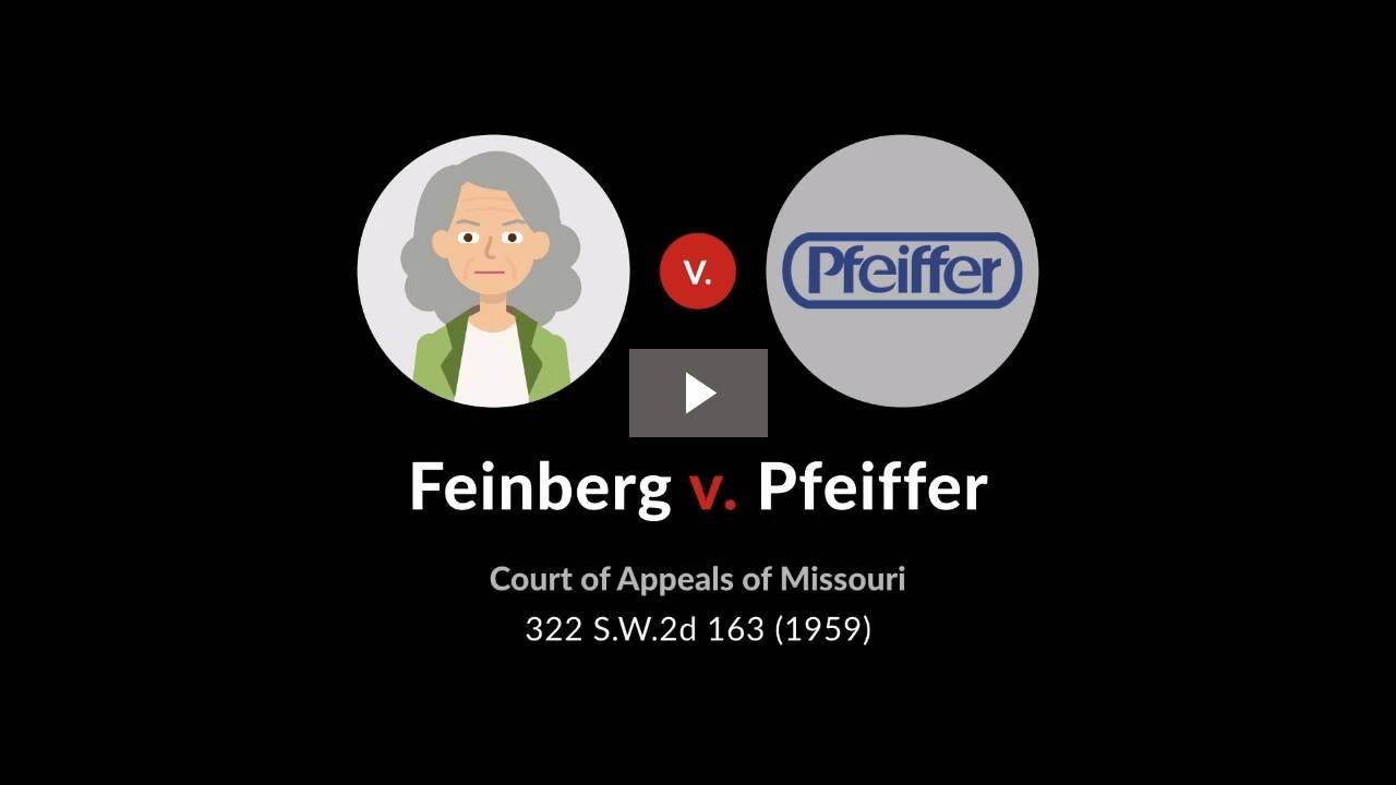 Feinberg v. Pfeiffer Co.