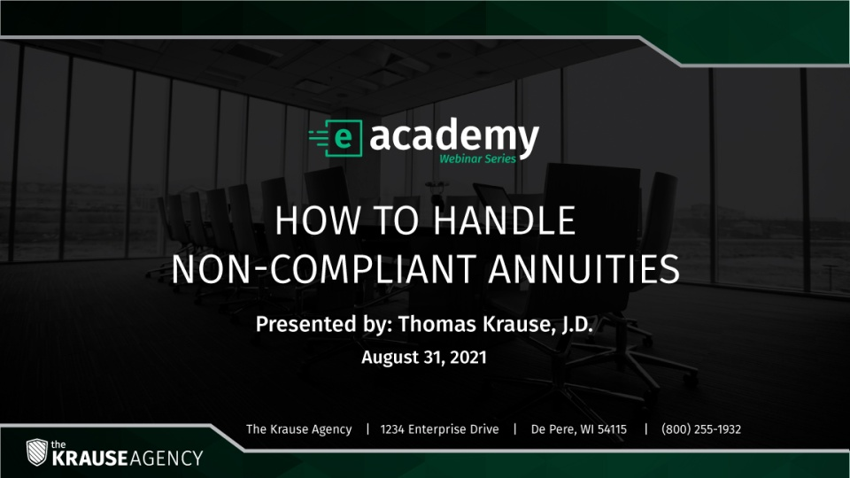 How to Handle Non-Compliant Annuities