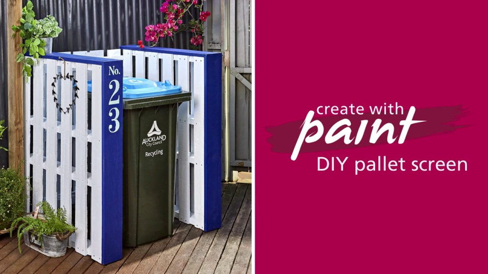 Habitat TV Video: DIY pallet screen