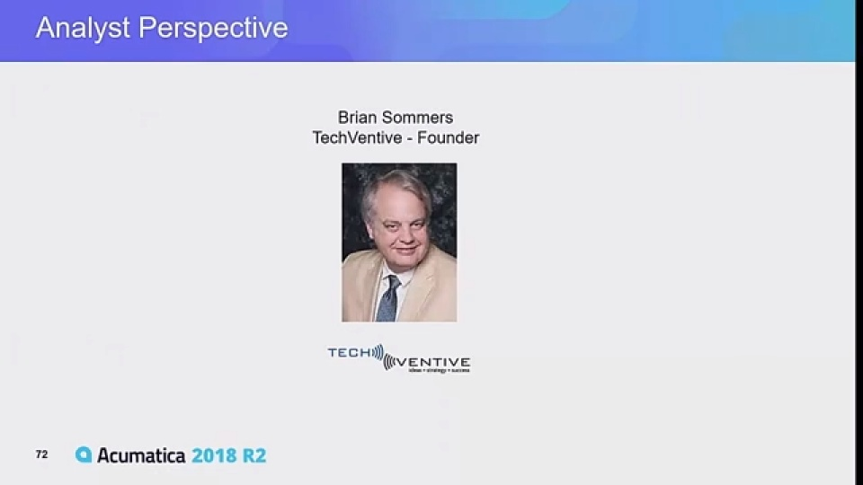 2018 R2 Industry Analyst Perspectives on Today's ERP  Environment