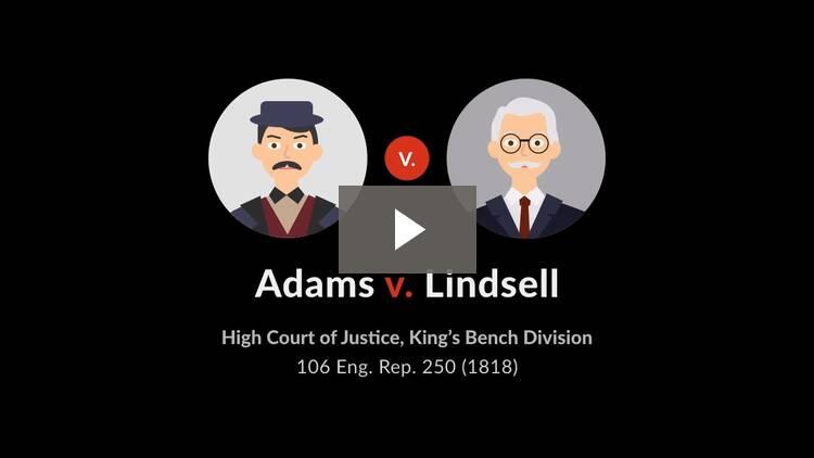 Adams v. Lindsell