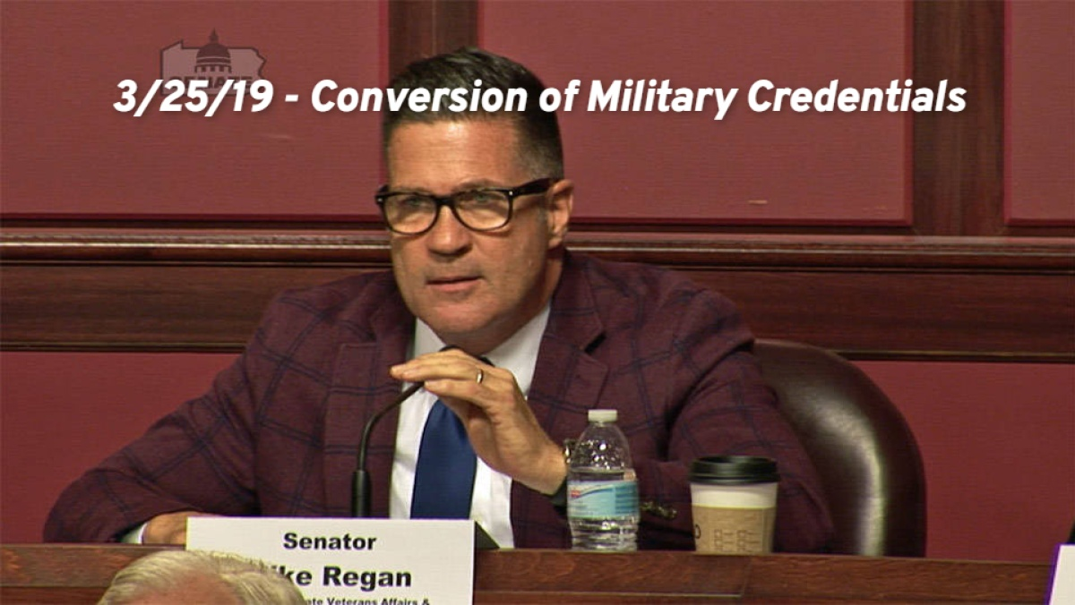 3/25/19 – Conversion of Military Credentials into Professional Certifications