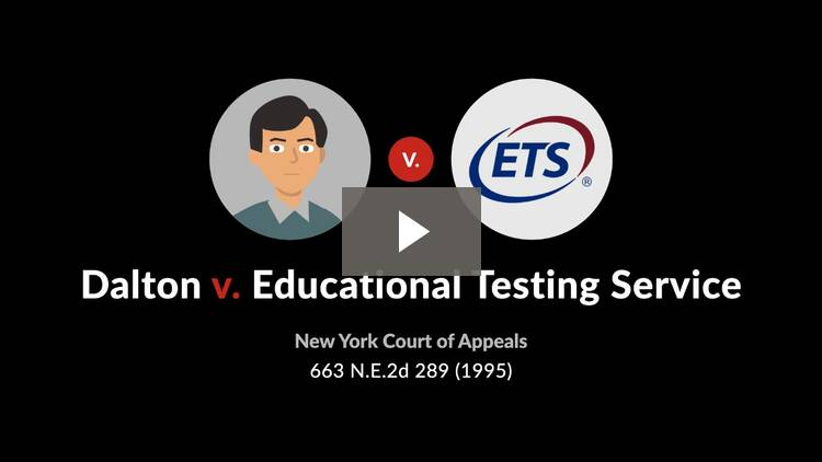 Dalton v. Educational Testing Service