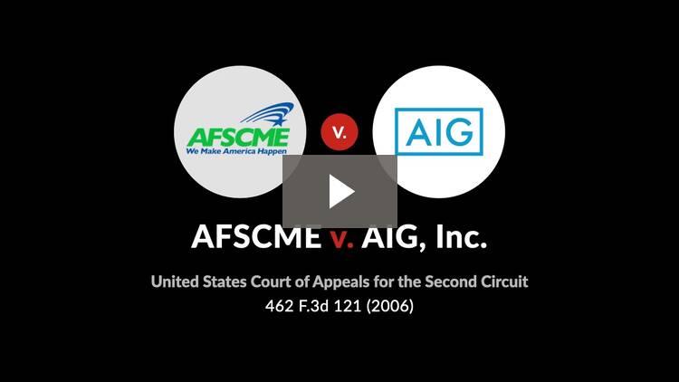 AFSCME v. AIG, Inc.