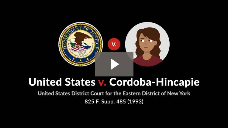 United States v. Cordoba-Hincapie