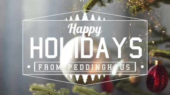 Happy Holidays from Peddinghaus