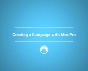 Creating a Campaign with Moz Pro