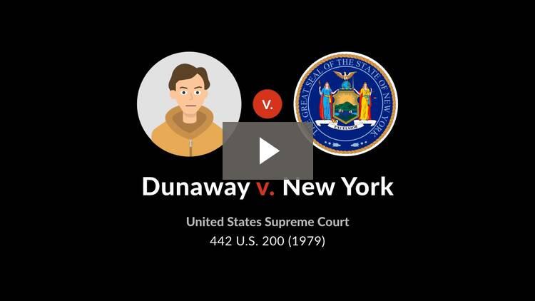 Dunaway v. New York