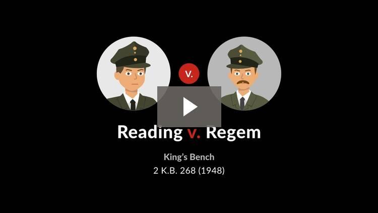 Reading v. Regem