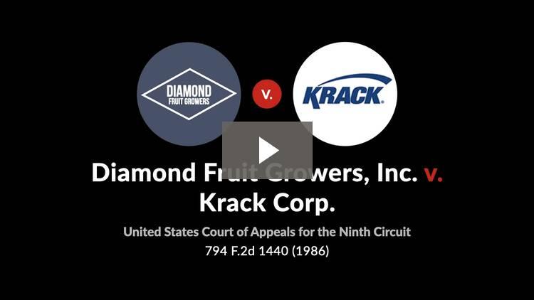 Diamond Fruit Growers, Inc. v. Krack Corp.