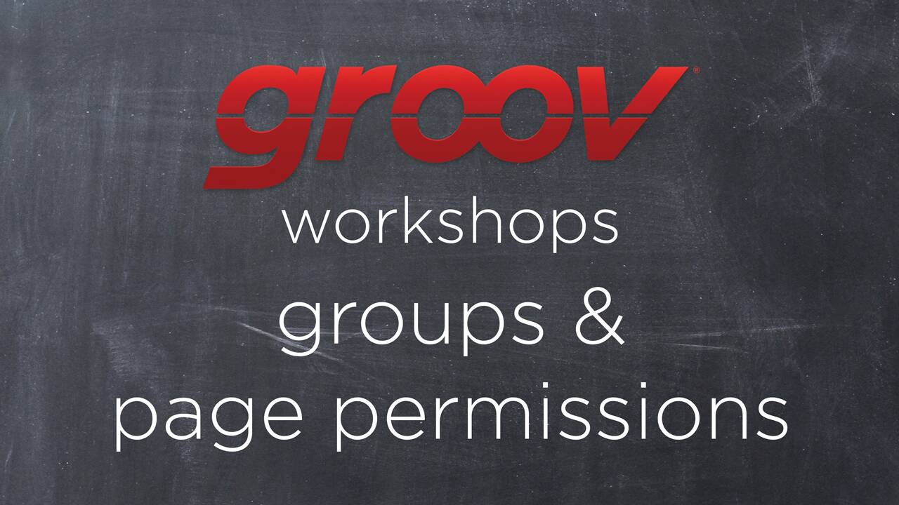 Creating groups & page permissions