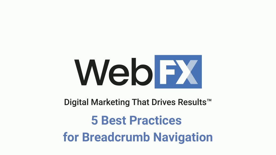 5 Best Practices For Breadcrumb Navigation