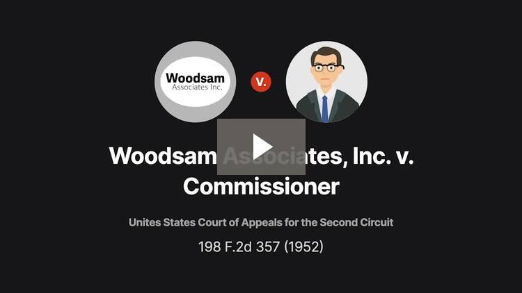 Woodsam Associates, Inc. v. Commissioner