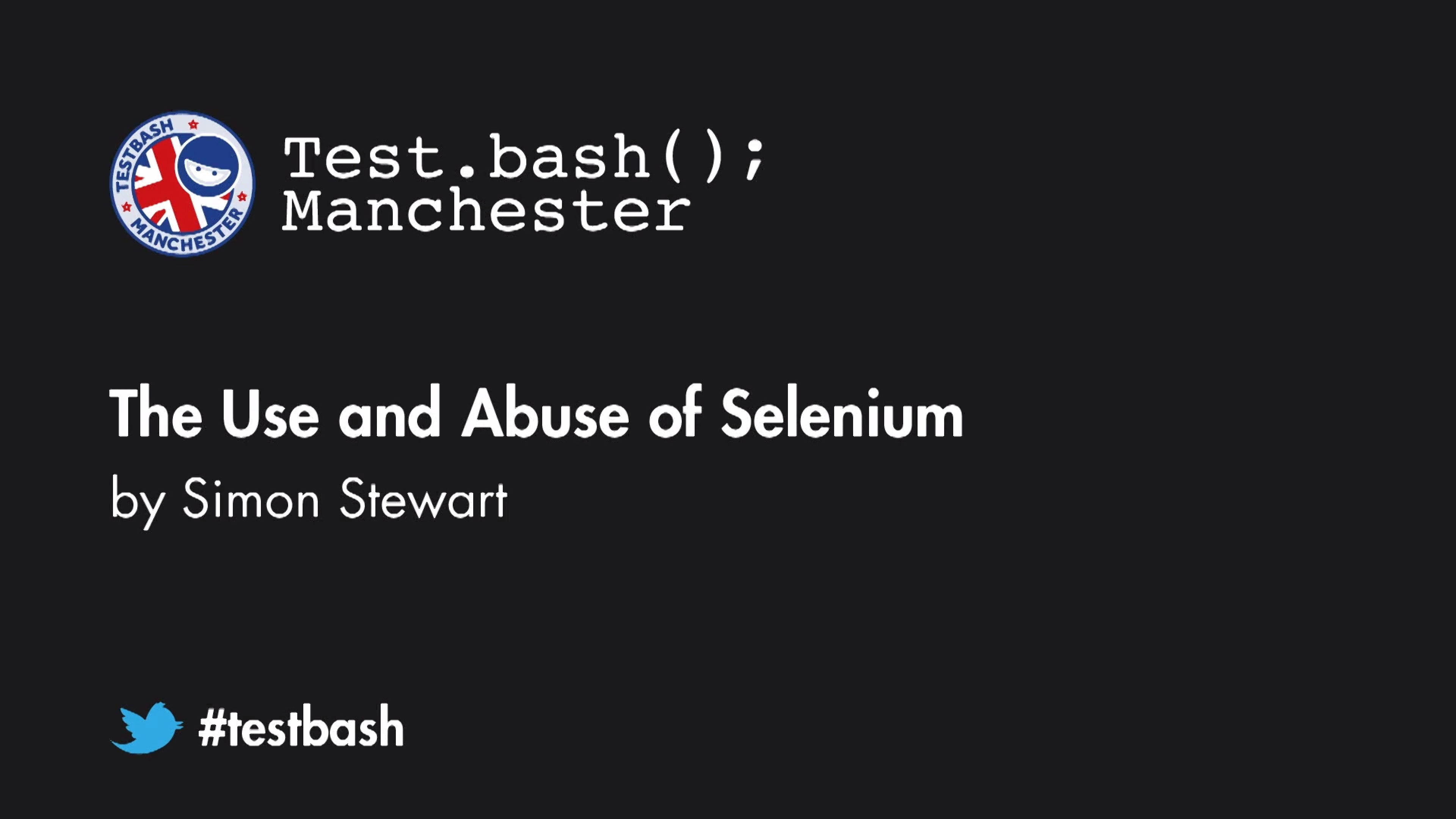 The Use and Abuse of Selenium - Simon Stewart