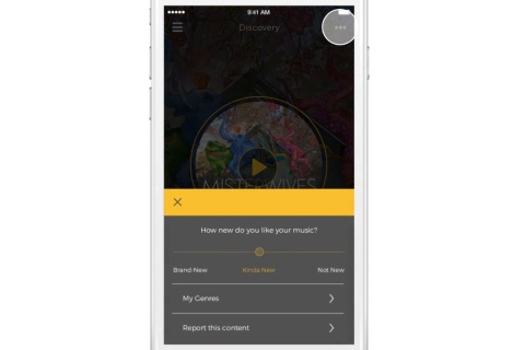 Hive Music Discovery app