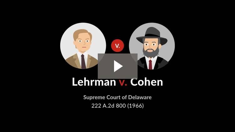 Lehrman v. Cohen