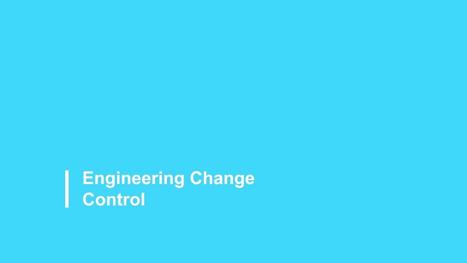 Engineering Change Control 2021