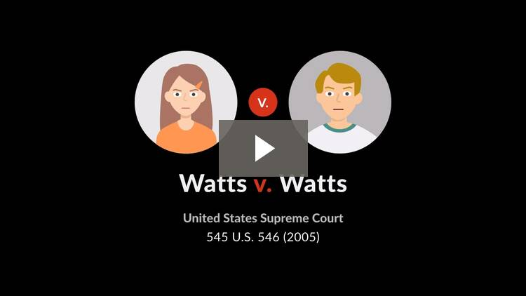 Watts v. Watts