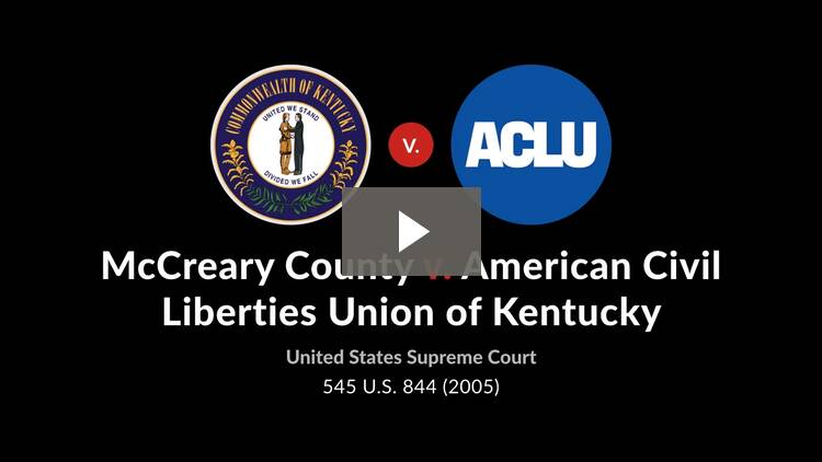 McCreary County v. American Civil Liberties Union of Kentucky