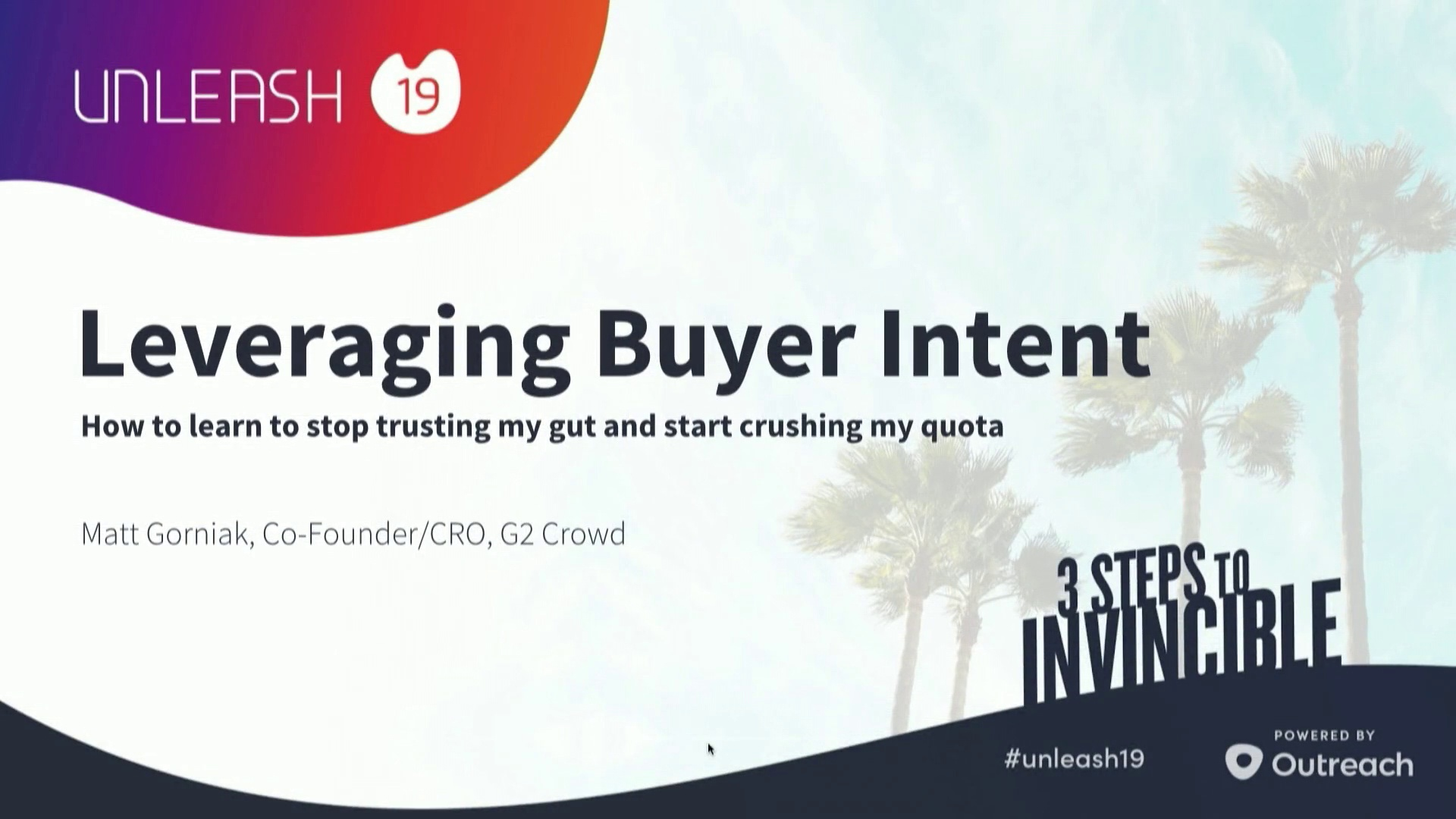 Leveraging Buyer Intent - Matt Gorniak