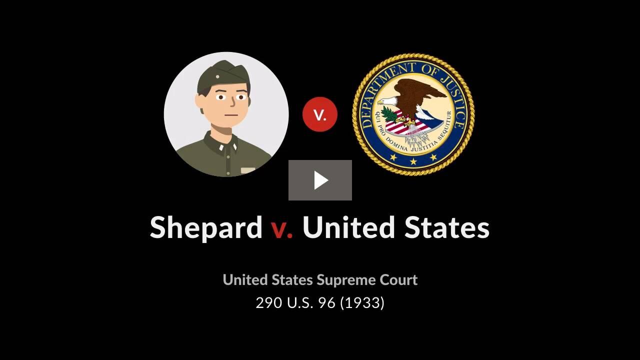 Shepard v. United States