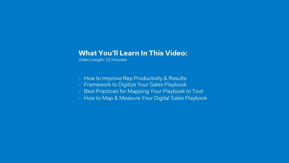 Digital Sales Playbook