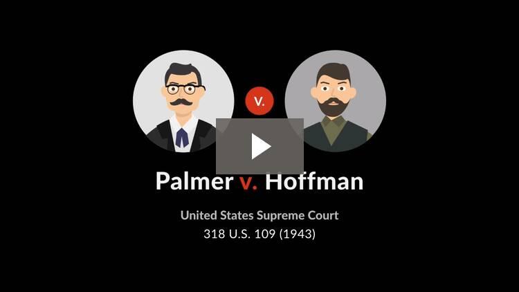 Palmer v. Hoffman